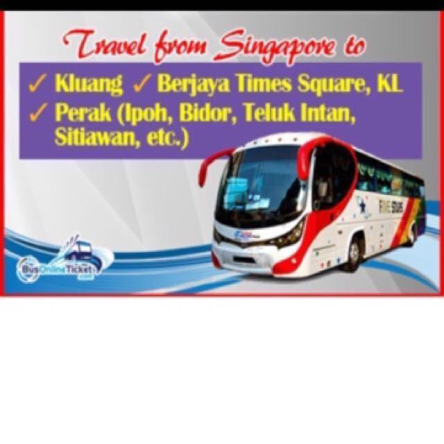 Let go CNY bus ticket .01 ticket CNY ticket 2018 SIN to Sungai Siput ,Ipoh