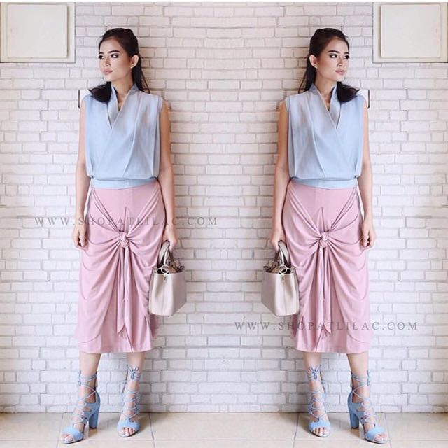 Lilac Cathy Bow Skirt - Pink