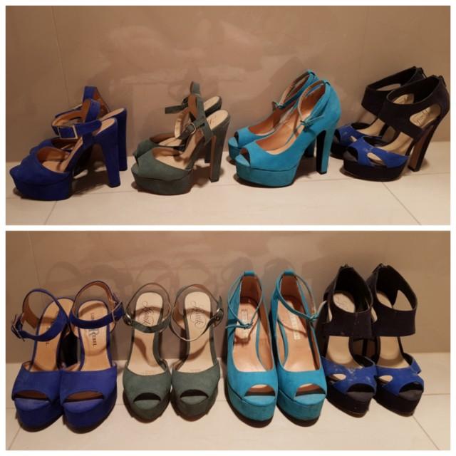 Lipstick & London Rebel heels - Size 5