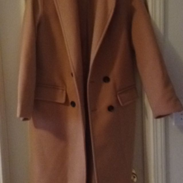 Long Camel Coat from Forever21