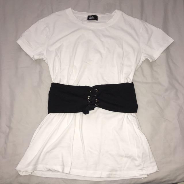 Long Tshirt w/ Corset Belt