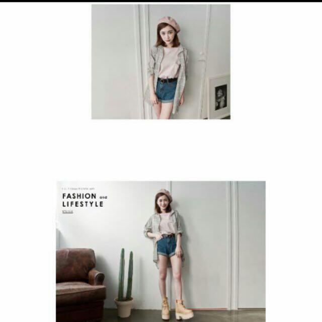 Lulu's 長版格紋罩衫