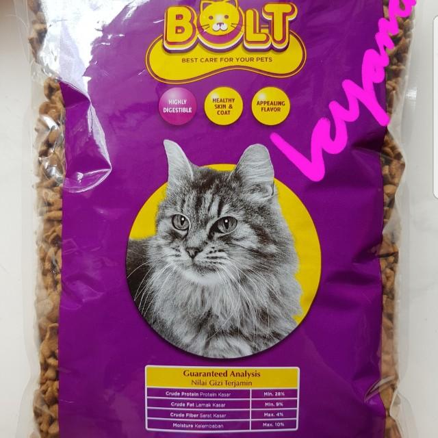 Makanan Kucing Bolt 1kg Pet Supplies Food On Carousell