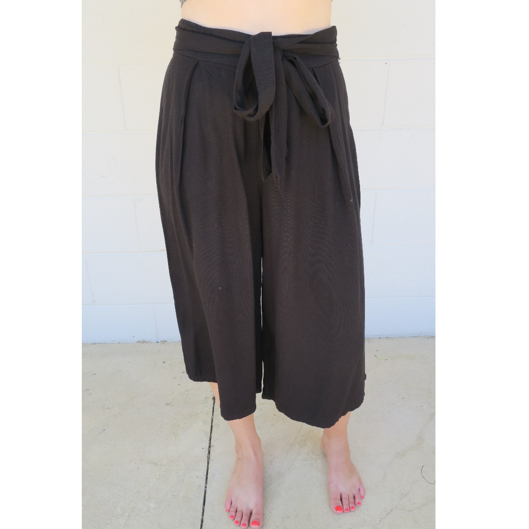Mango Black Culotte Pants