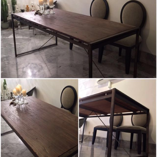 Meja Makan industrial kayu jati - dining table *REPRICE