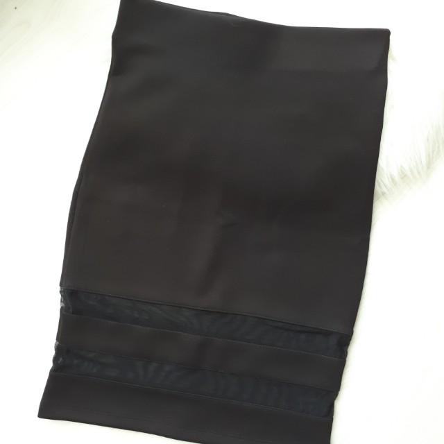 Mesh Sexy Pencil Skirt