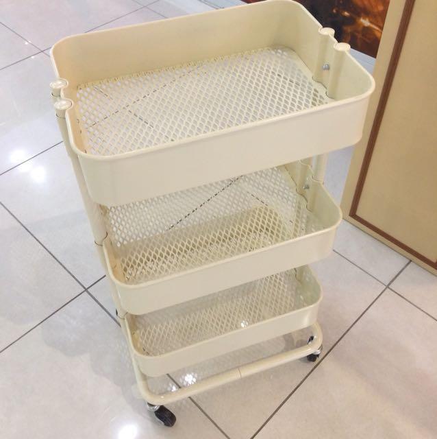 Metal trolley basket (3 baskets)