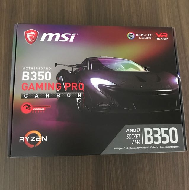 MSI B350 Gaming Pro Carbon Motherboard, Electronics