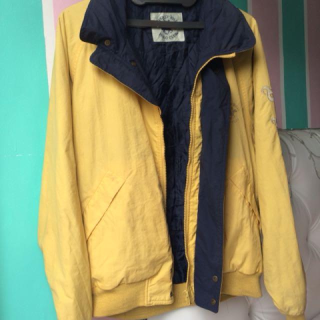 Mustard yellow parachute jacket