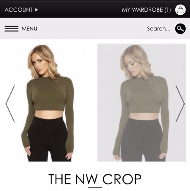 Naked Wardrobe Crop Small Brand New With Tags
