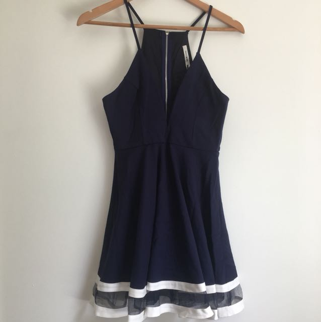 Navy blue play suit