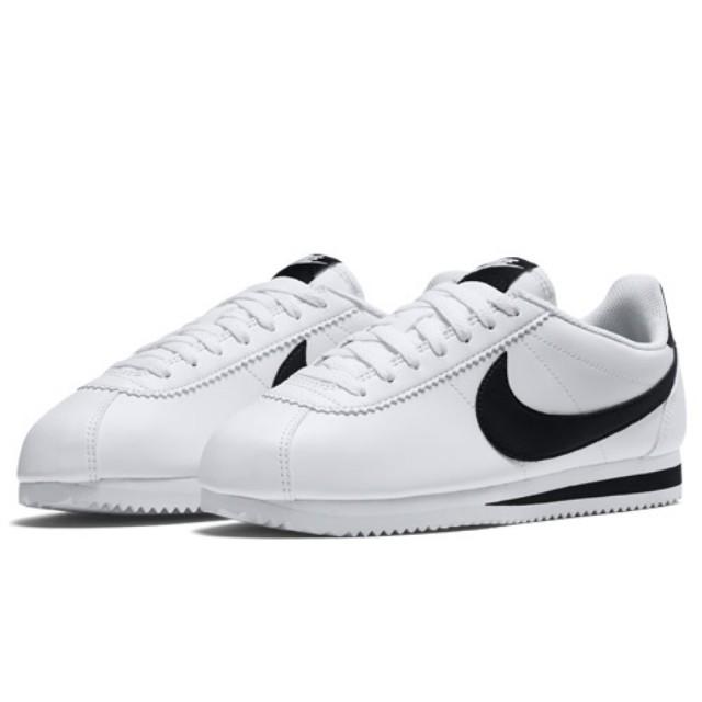 Nike womens classic cortez leather white noir