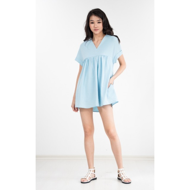 544e4d07cbab Ninth Collective Jelyka Babydoll Romper in Baby Blue, Women's ...
