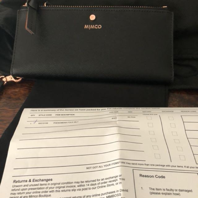 Nwt mimco large black phenomena fold wallet