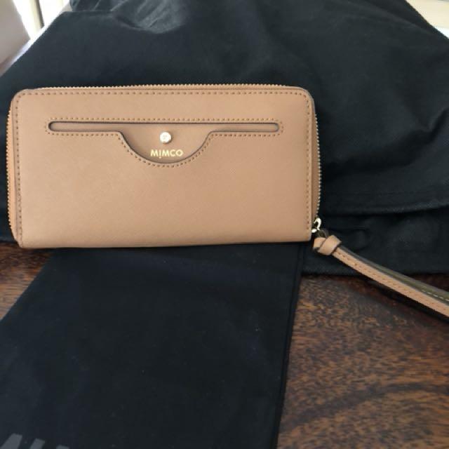 Nwt mimco large tan phenomena wallet