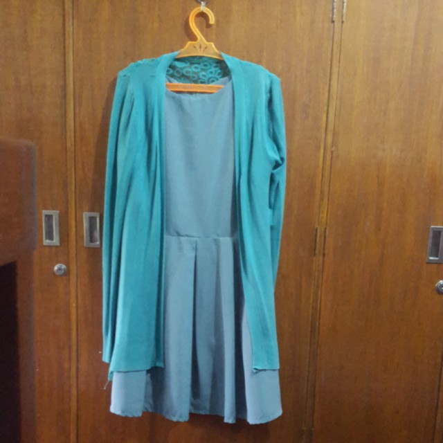 Partner: Blue Green Dress and Cardigan for only 200php