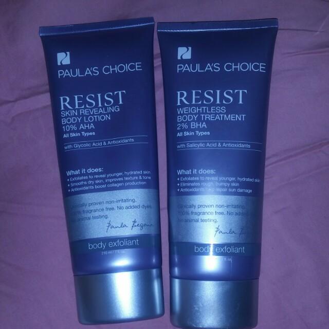 Paula's Choice bundle Resist AHA & BHA + Retinol body lotions