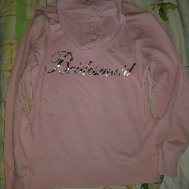 Pink Bridesmaid Hoodie