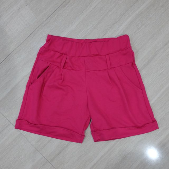 Pink cotton short pants