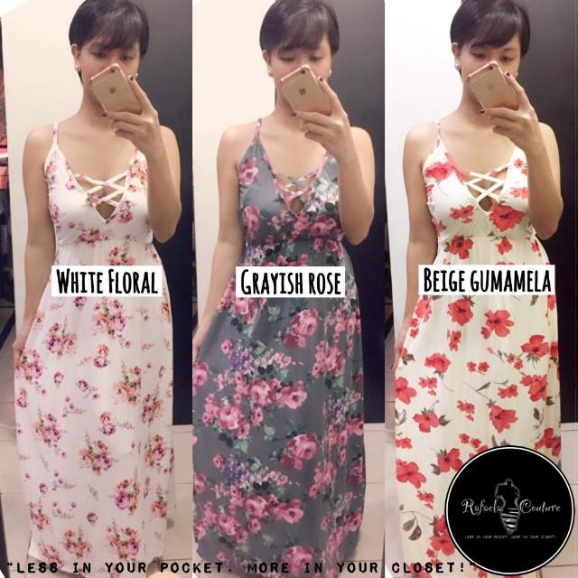 (PLUS SIZE) Bettina Reversible Cross Maxi Dress