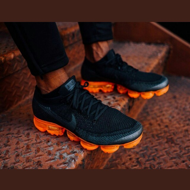4cefa39adfd4d (PO) Nike Flyknit Air Vapormax black orange