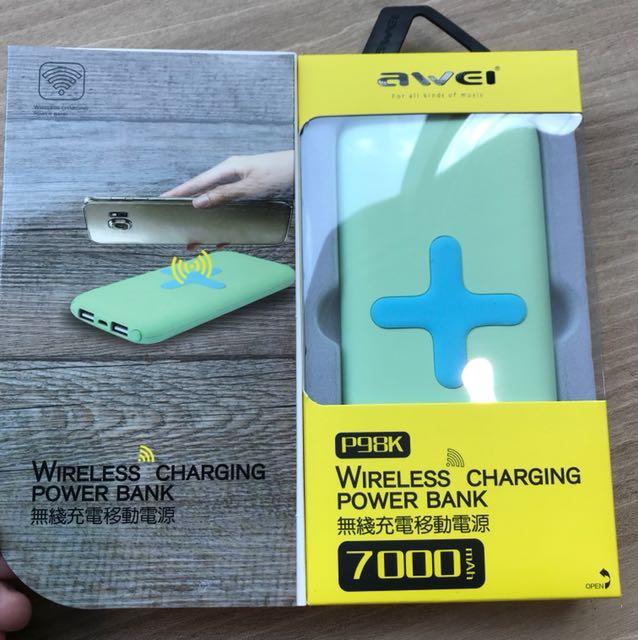 Power bank wireless charging 7000mAh