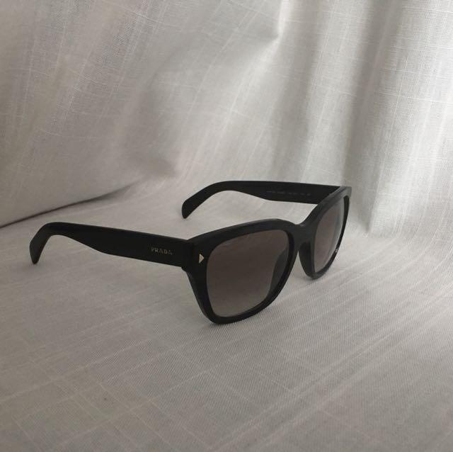 Prada sunglasses authentic black with studs wore twice