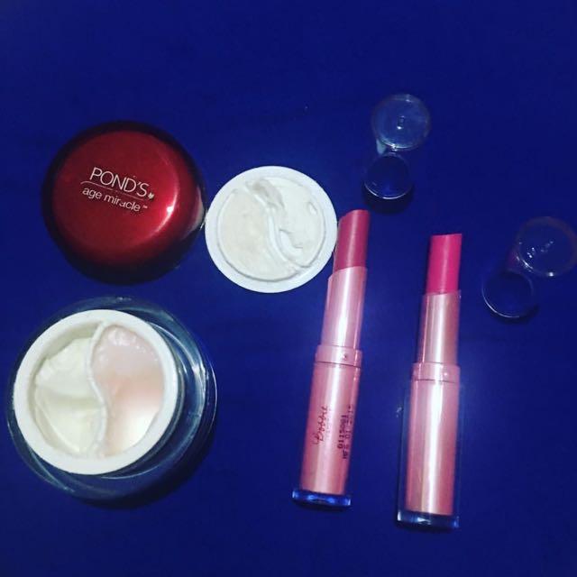 Preloved pond's eye cream and bobbie's cosmetics lippies