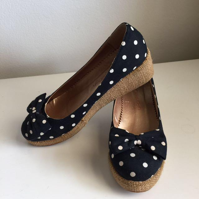 **price drop**Polkadot platform shoes