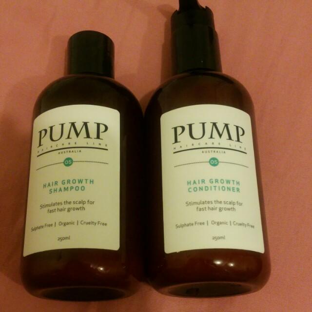 Pump  Australia hair growth shampoo + conditioner