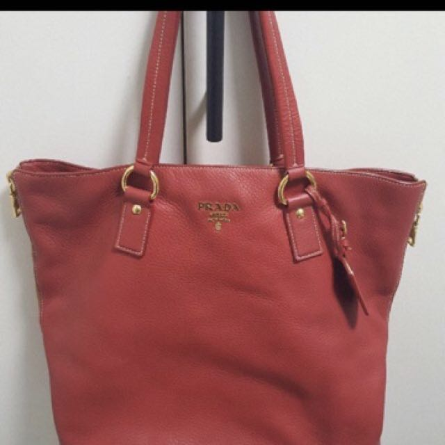 7b9a4b1459d2 ... discount code for reduced price prada red leather tote bag womens  fashion bags wallets on carousell