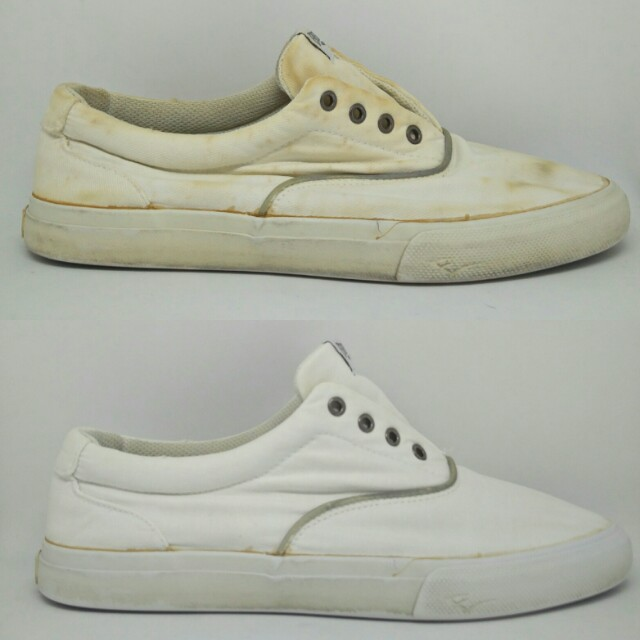 Removal Of Yellow Bleach Stain On Sneaker Men S Fashion Footwear