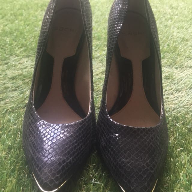 Sachi snakeskin heels