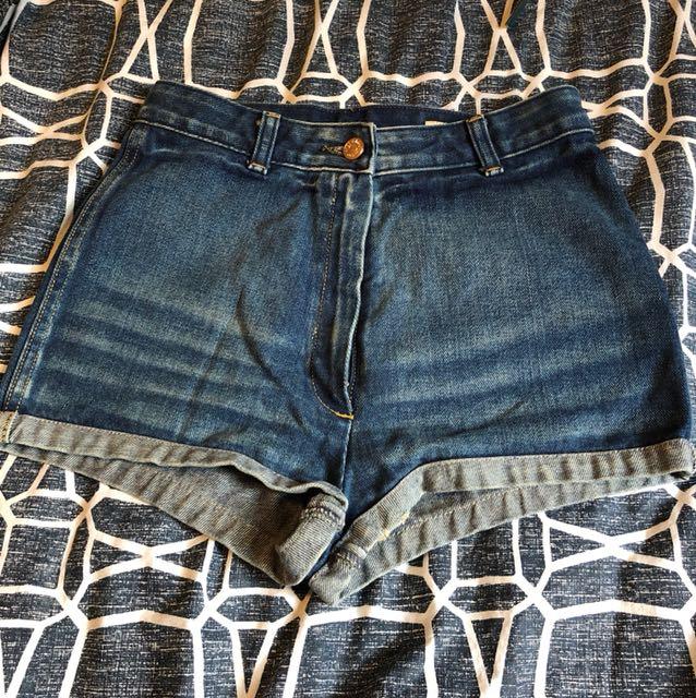 Sass and bide high waisted shorts size 25