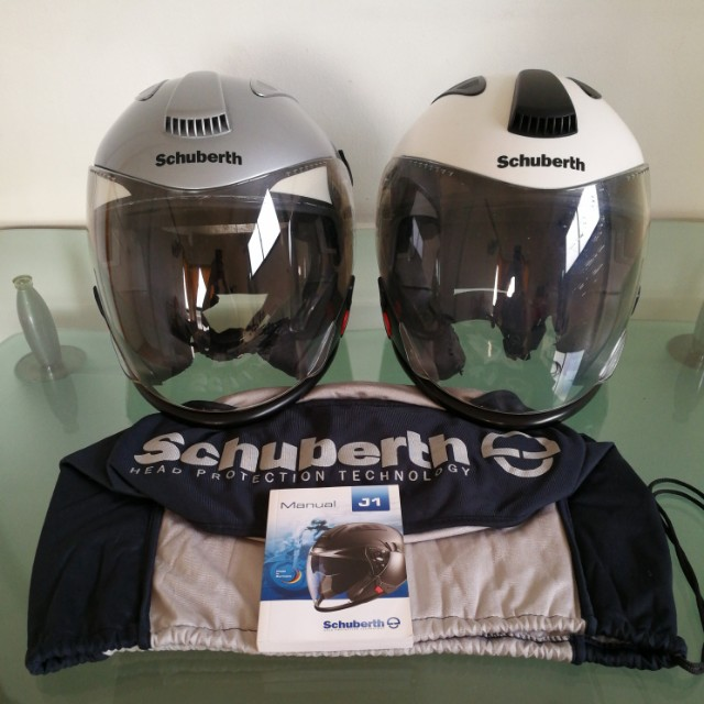 5255100f Schuberth J1 Size M & Size XL, Motorbikes, Motorbike Apparel on Carousell