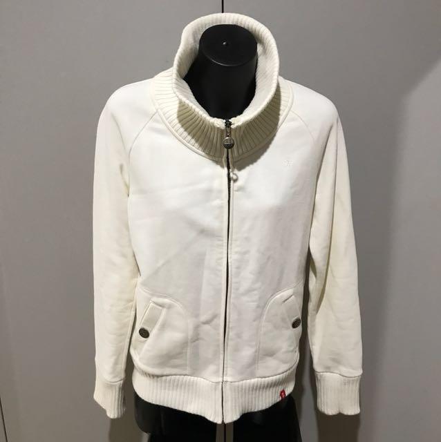 Size m off white cream zip up jumper jacket soft