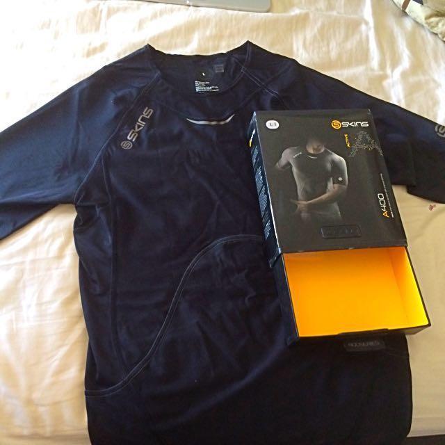 Skins A400 Short Sleeve Compression Shirt