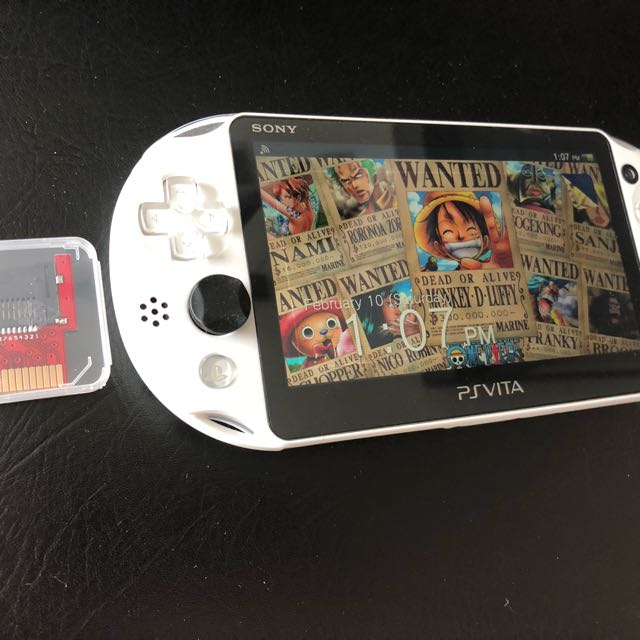 Sony PS Vita White Henkaku Jailbroken with Micro SD card
