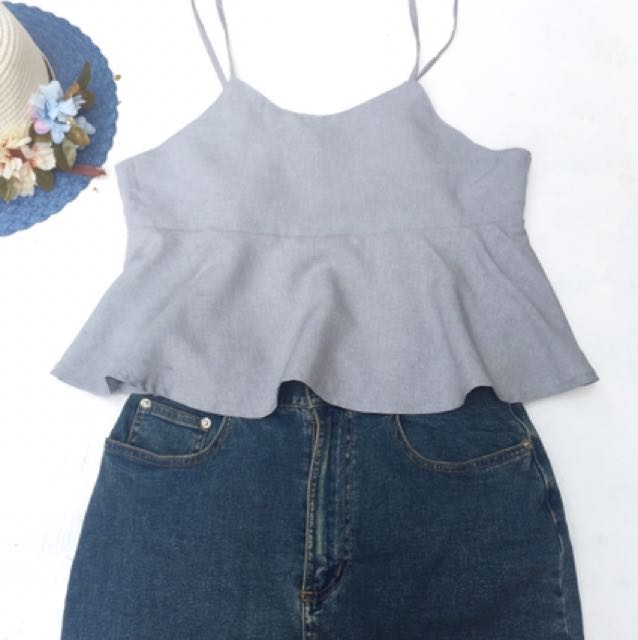 Sumer Outfit Top and Denim Skirt Set