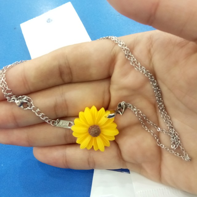 SUNFLOWER NECKLACE STAINLESS
