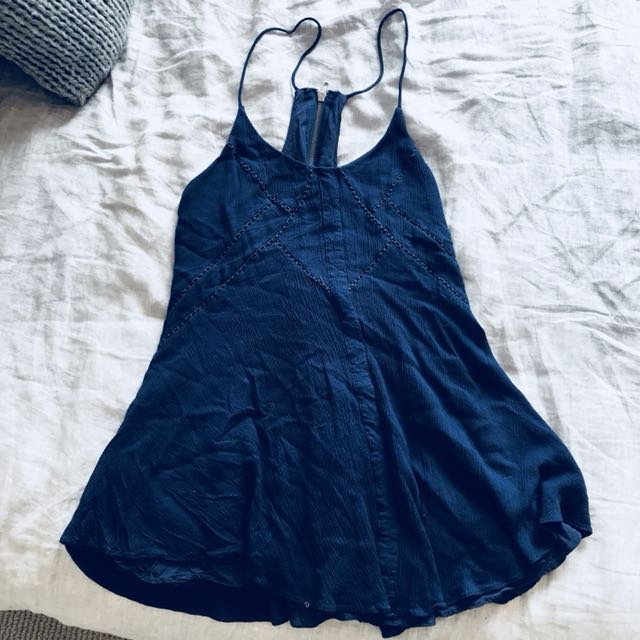 Swing dress navy