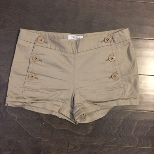 Talula Beige Shorts