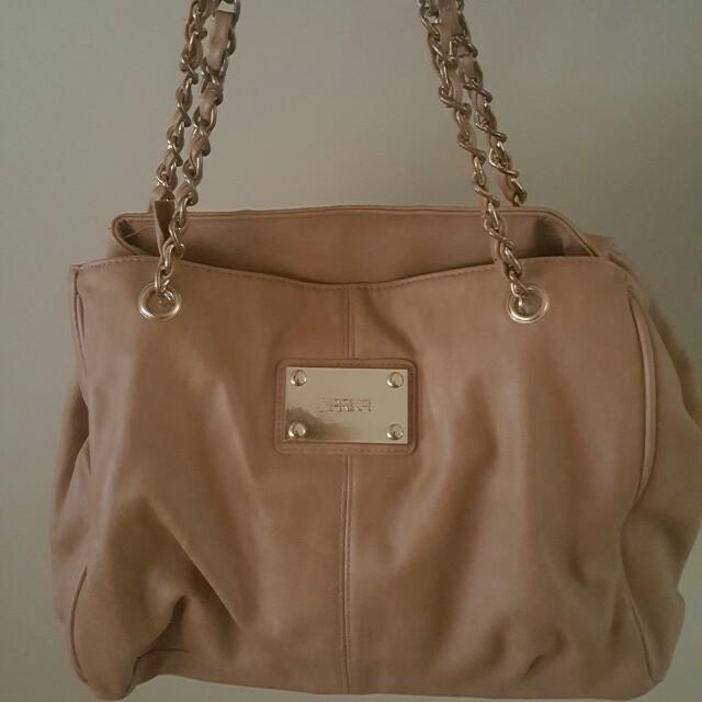 Tan leather bag
