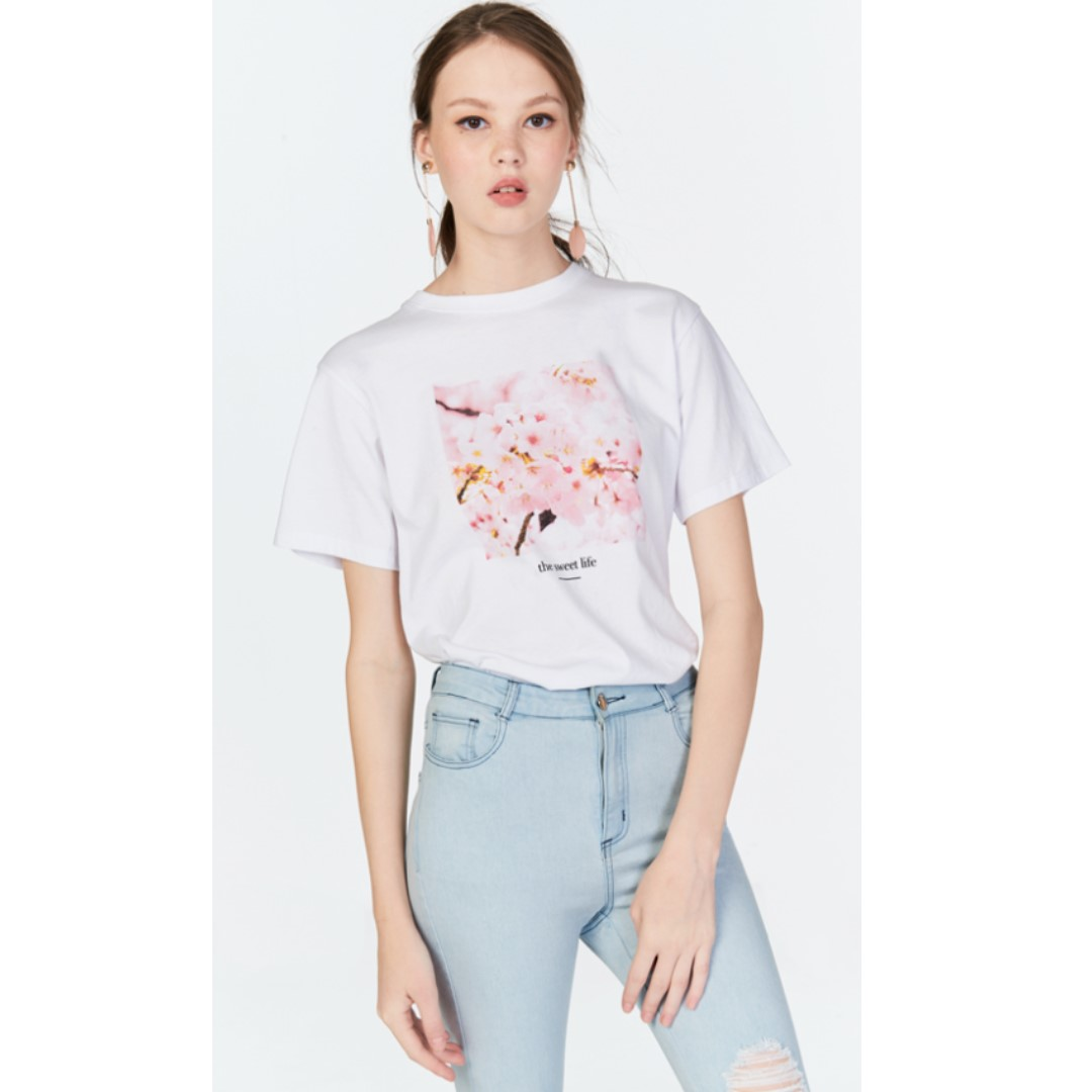 6a7b0db72 TCL SWEET LIFE GRAPHIC TEE (SIZE S), Women's Fashion, Clothes, Tops ...