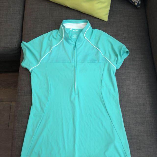 Teal adidas golf shirt