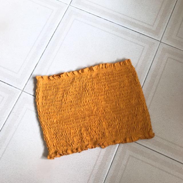 48e4d26c8a6423 Temt burnt orange mustard tube top