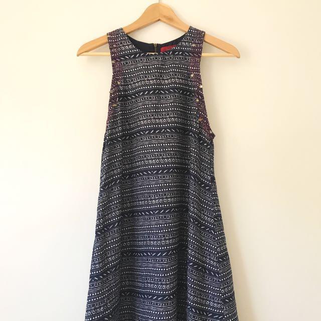 Tigerlily Blue High Neck Dress AUS 8
