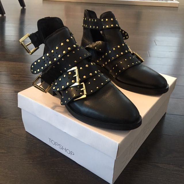 Top Shop Leather Boots