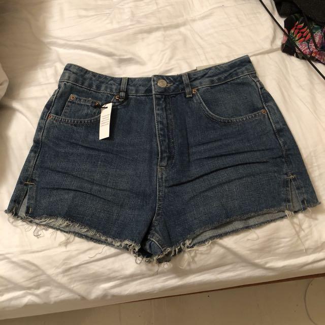 Topshop high-waisted denim shorts