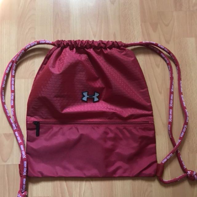 pink under armour drawstring bag